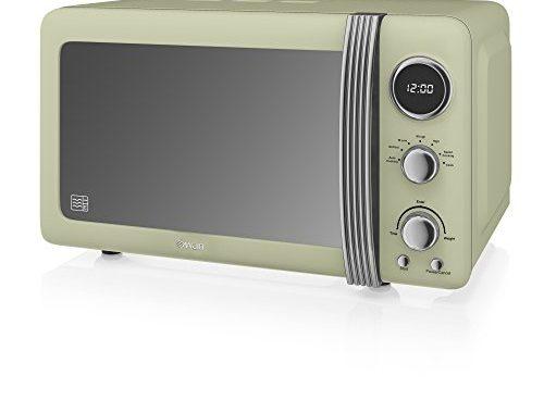 swan retro digitale mikrowelle 20 l 800 w mikrowelle gr n leknurg. Black Bedroom Furniture Sets. Home Design Ideas